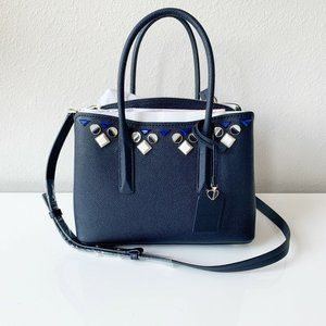 Kate Spade Margaux Medium Jeweled Leather Satchel